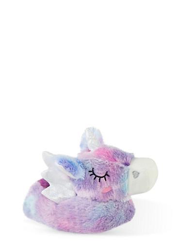Girls 5-10 Unicorn Slippers,MULTI COLOR,large