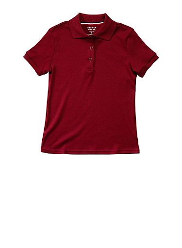 Girls 4-6x Short Sleeve Interlock Polo School Uniform | Tuggl
