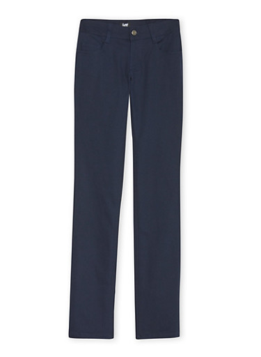 Juniors School Uniform Skinny Leg Chino Pants,NAVY,large