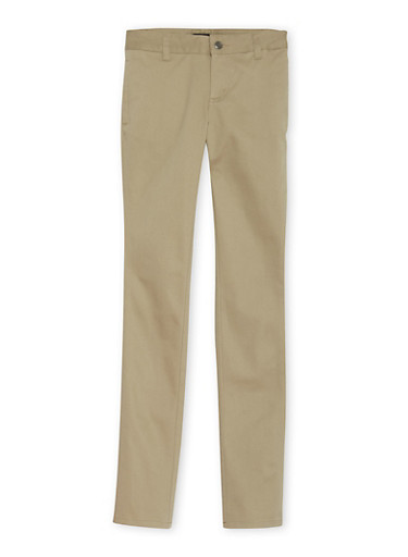 Junior School Uniform Chino Pants,KHAKI,large