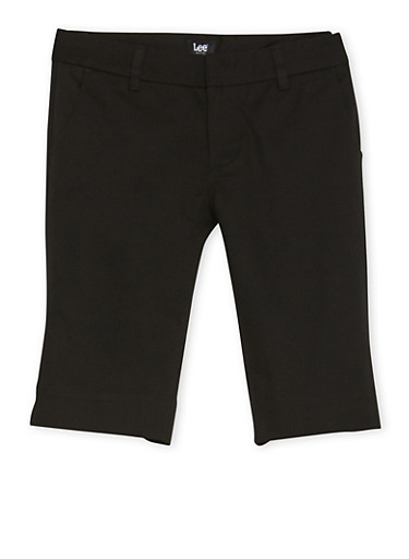 Juniors School Uniform Bermuda Shorts,BLACK,large