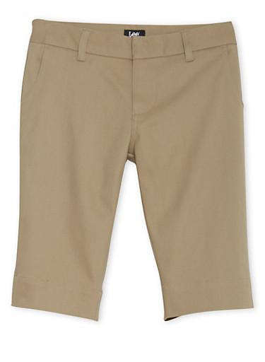 Junior School Uniform Bermuda Shorts,KHAKI,large