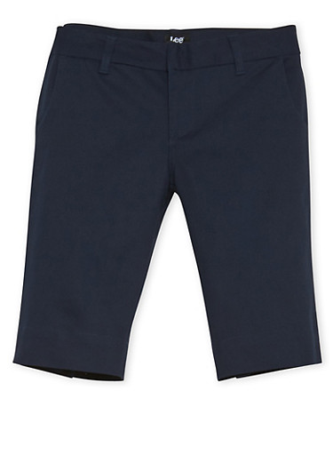 Juniors School Uniform Bermuda Shorts,NAVY,large