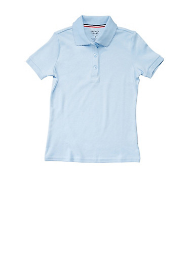 Girls 7-14 Short Sleeve Interlock Polo School Uniform | Tuggl