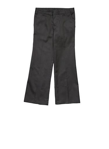 Girls 7-14 Adjustable Waist Pant School Uniform,BLACK,large