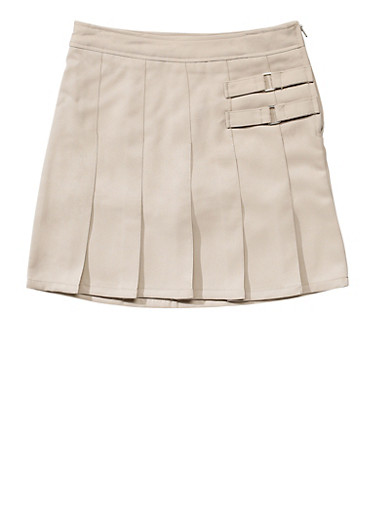 Girls Plus Size Two Tab Scooter School Uniform,KHAKI,large