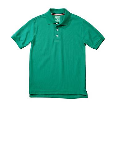 Boys 4-7 Short Sleeve Pique Polo School Uniform,HUNTER,large