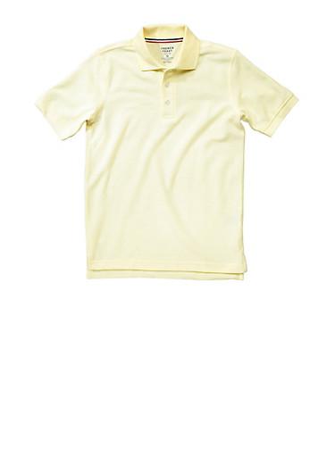 Boys 4-7 Short Sleeve Pique Polo School Uniform,GOLD,large