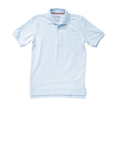 Boys 4-7 Short Sleeve Pique Polo School Uniform,SKY BLUE,large