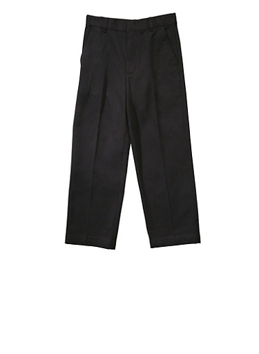 Boys 4-7 Adjustable Waist Straight Leg Twill School Uniform Pants,BLACK,large