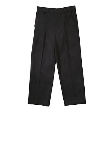 Boys 4-7 Adjustable Waist Straight Leg Twill School Uniform Pants | 5855008930051,BLACK,large