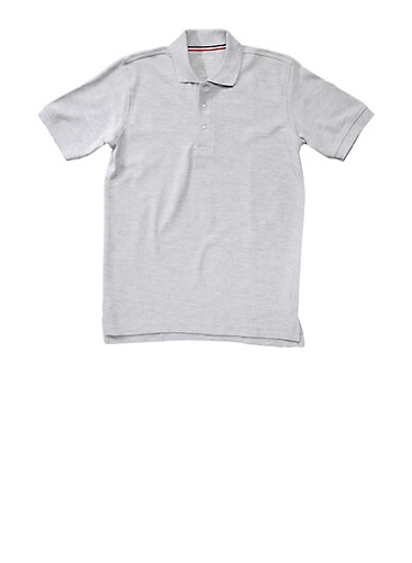 Boys 16-20 Short Sleeve Pique Polo School Uniform | Tuggl