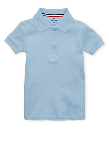 Girls 2T-4T Short Sleeve Interlock Polo School Uniform | Tuggl