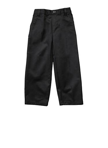 Boys 2T-4T Adjustable Pull-On Pants School Uniform,BLACK,large