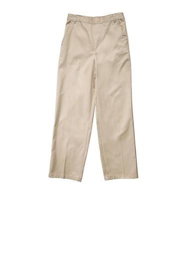 Boys 2T-4T Adjustable Pull On Pants School Uniform,KHAKI,large