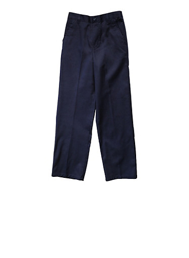 Boys 2T-4T Adjustable Pull On Pants School Uniform,NAVY,large