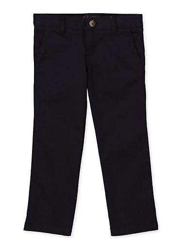 French Toast Big Girls Straight Leg Pants 7 Navy
