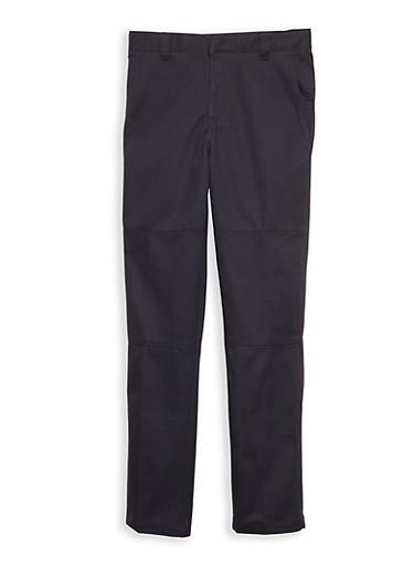 Boys 4-7 Navy Twill School Uniform Pants,NAVY,large