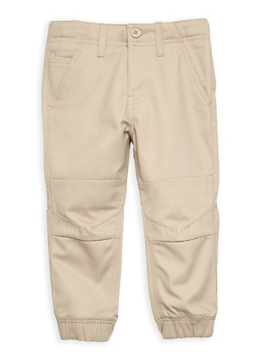 Boys 4-7 Twill Jogger Pant School Uniform,KHAKI,large