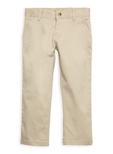 Boys 4-7 Khaki Chino School Uniform Pants | Tuggl