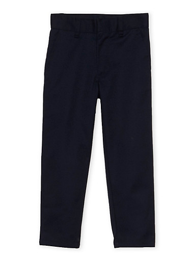 Boys 4-7 Adjustable Waist Twill School Uniform Pants,NAVY,large