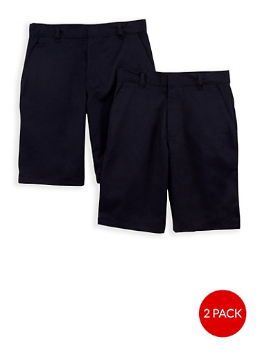 Boys 8-14 Adjustable Waist Shorts - 2 Pack - School Uniform | Tuggl