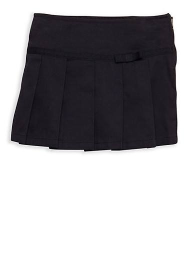 Girls 2T-4T Two Tab Scooter Skirt School Uniform,NAVY,large