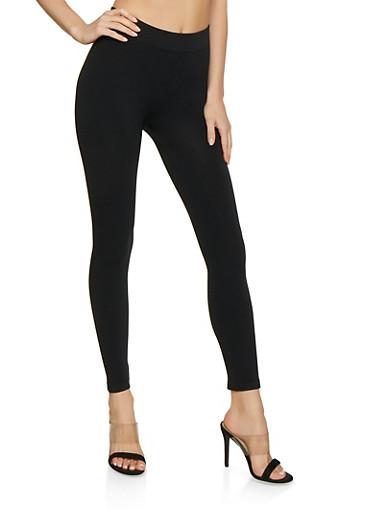 Solid Leggings | 7067041450019,BLACK,large