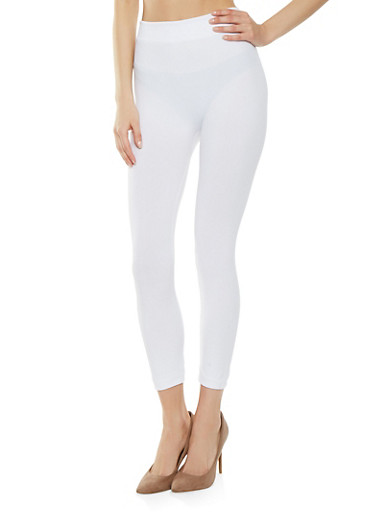 Spandex Leggings,WHITE,large