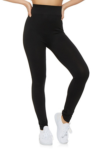 Solid Seamless Leggings,BLACK,large