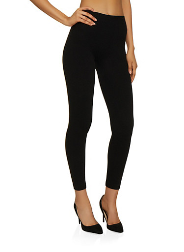 French Terry Lined Leggings | 7069038348869,BLACK,large
