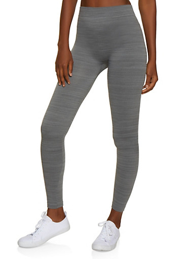 French Terry Lined Leggings   7069041450034,HEATHER,large
