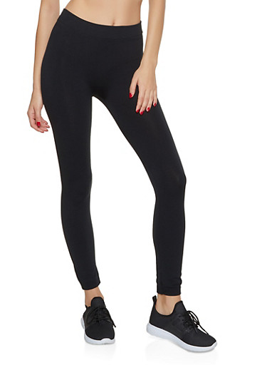 Fleece Lined Leggings | 7069041452118,BLACK,large