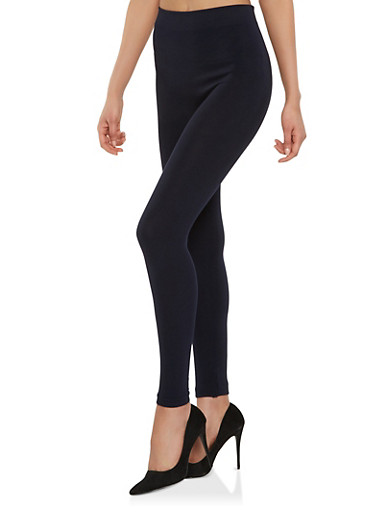 Basic Solid Leggings,NAVY,large