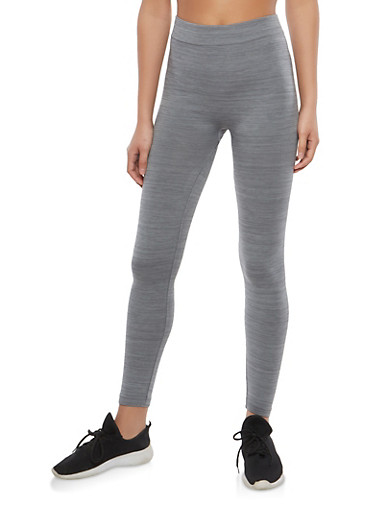 Heather Grey Basic Leggings,HEATHER,large
