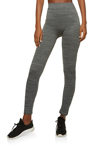 Marled Activewear Leggings,CHARCOAL,large