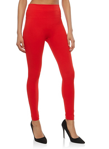 Basic Leggings,RED,large