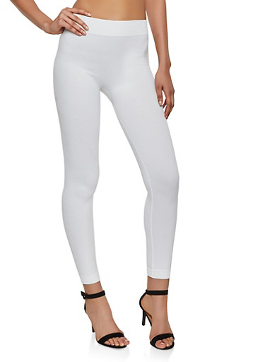 French Terry Lined Leggings | 7069041453126,IVORY,large