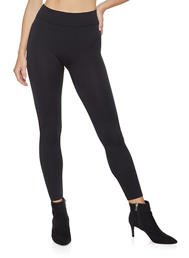Fleece Lined Leggings | 7069059162578,BLACK,large