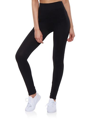 Basic Leggings,BLACK,large