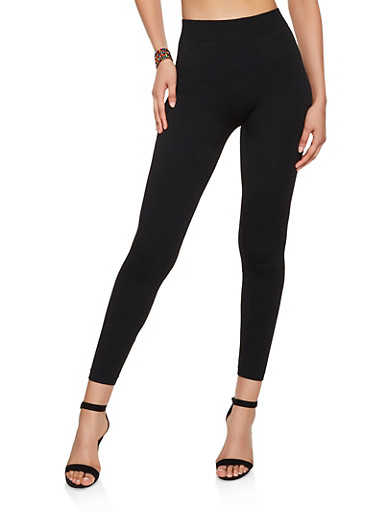 French Terry Lined Leggings | 7069059163397,BLACK,large
