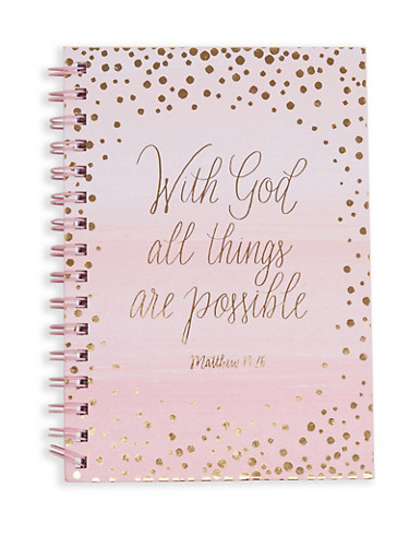 With God All Things are Possible Notebook,WHITE,large