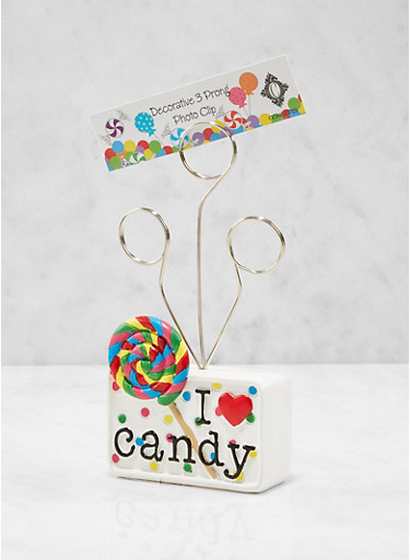 I Love Candy Photo Clip,WHITE,large