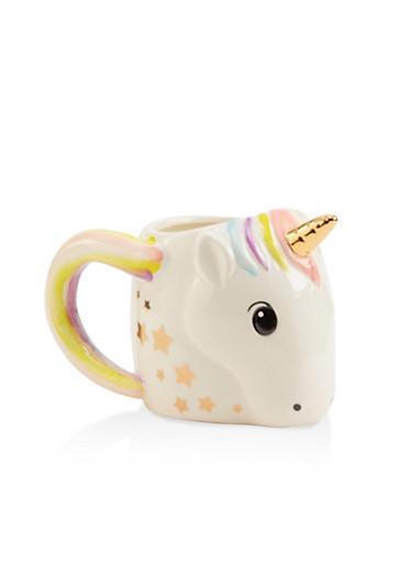 Unicorn Mug,WHITE,large