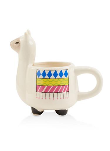 Llama Mug,WHITE,large