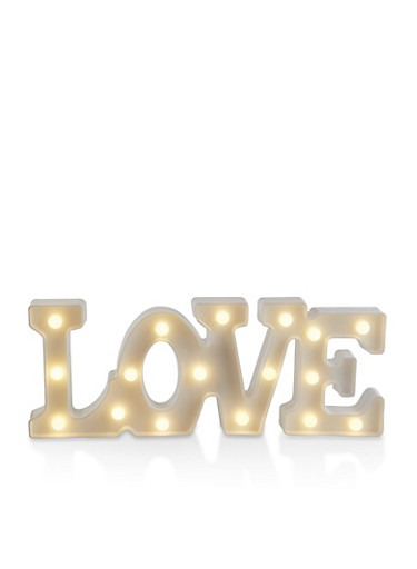 Love LED Marquee Light,WHITE,large