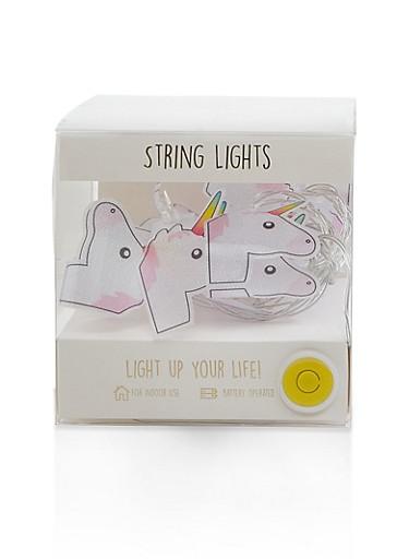 Glitter Unicorn String Lights,WHITE,large