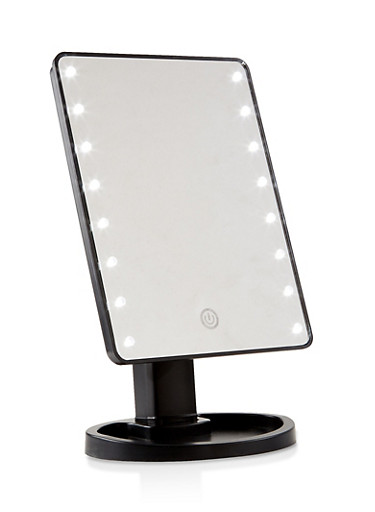 Large LED Vanity Mirror,BLACK,large