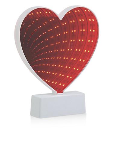 Plastic Heart Tunnel LED Light,RED,large
