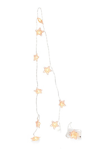 Wire Star String Lights,ROSE,large